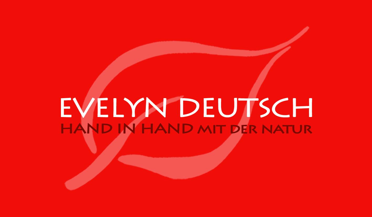 aromapflege firmenlogo evelyn deutsch rot